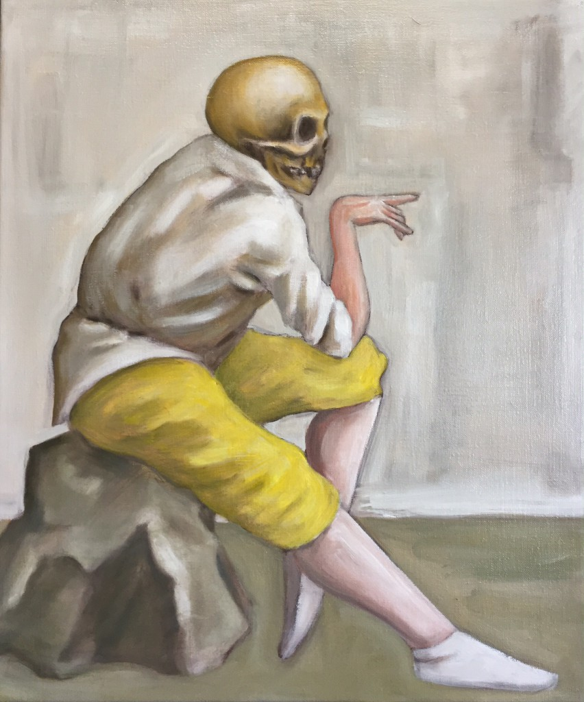 Akram Mutlak: Melancholia, Öl auf Leinwand, 50 x 40 cm, 2015 www.akrammutlak.de