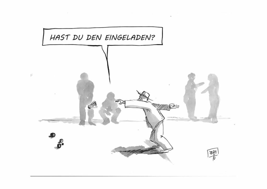 Bouleturnier April 2016 Cartoon Joachim Niggemeyer