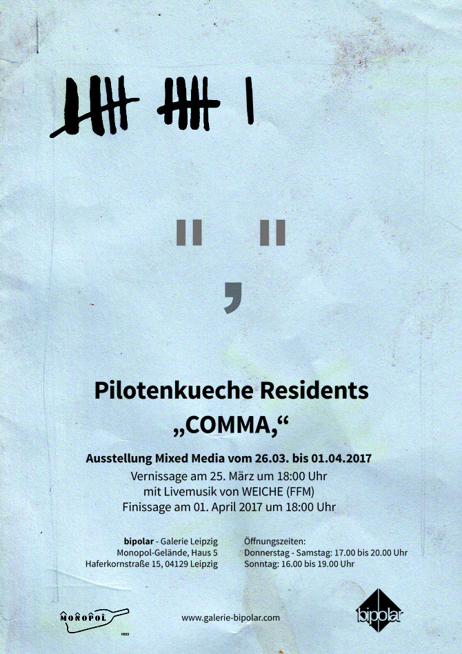 Flyer Austellung Comma